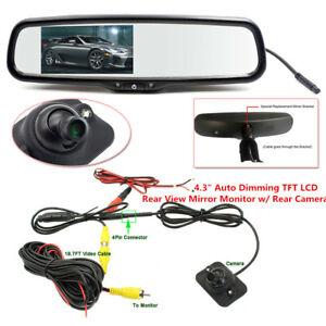 "4.3"" Car Auto Dimming Anti-glare TFT LCD Rear View Mirror Monitor w/ Rear Camera"