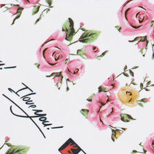 2 Sheets Nail Art Rose Flower Water Decals Colorfu Transfer Stickers Nail Decor