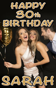 1 x Personalised Photo Large Door Banner Birthday Party Print Christening