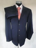 San Siro Einreiher Herren Anzug Sakko Hose Polyester Dunkelblau Gr. 102 NEU!