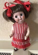 Antique Googly JDK221 Replica 6 1/2 Inch Doll  Side Glancing Eyes