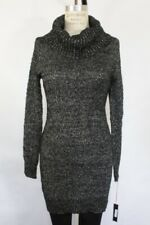 Nwt Bar Iii Womens Long Sleeve Cowl Neck Sweater Dress Glittery Black M $79