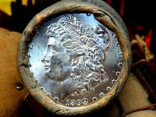 Uncirculated Bu+1898 Top Quality End / Dmpl S Morgan Dollar Roll$10 #Sdr857