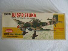 Guillows Balsa Wood German Junkers JU87B Stuka Flying Model Airplane Kit #1002