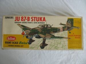 Guillows Balsa Wood German Junkers JU87B Stuka Flying Model Airplane Kit #1002