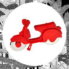 Pizza Scooter- Red Dual Wheel Cutter by Balvi, Serving Motorbike Mod Retro Bike