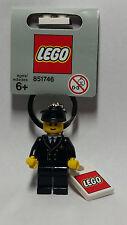 Brand New Lego - Aircraft Pilot Keyring (2006) - 851746 -  City - Rare Gray Tag
