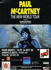 Publicité advertising 1993 Concert Paul McCartney Paris Bercy