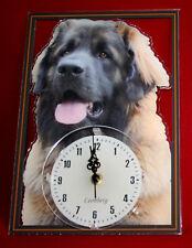Horloge pendule chien leonberg 3 clock dog uhr hund reloj