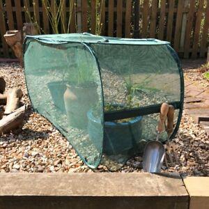 1.1 x 0.4 x 0.55mH Pop-Up Garden Planter & Grow Net Bag Crop cover with door