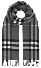 Burberry Classic Check 100% Cashmere Scarf Made in Scotland Mens 39942071