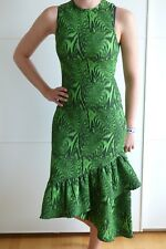 House of Holland Kleid grün mit Volant EU 36 UK 8 Asymmetric frill dress