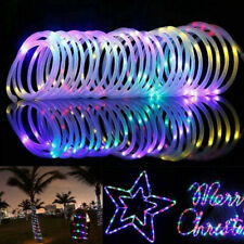 100LED Solar Power Rope Tube Fairy Light LED String Waterproof Outdoor Garden