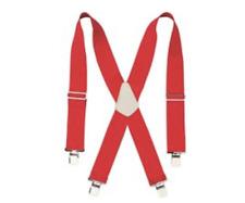 Custom Leathercraft 110RED Heavy Duty Web Suspender Red - UPC: 084298011108