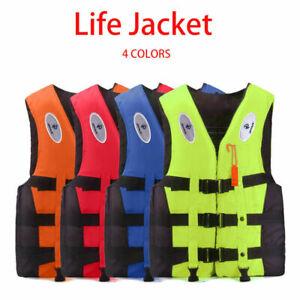 Adults Kids Life Jackets Watersport Vest Kayak Ski Buoyancy Aid Sailing Boating*