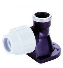 """PLASSON 7750 20 mm x 1/2"""" in plastica WALLPLATE Gomito-Confezione da 5"""