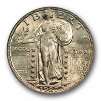 1927 25C Standing Liberty Quarter ANACS MS 63 Uncirculated Mint State Beautif...