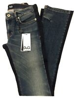 D&G by Dolce & Gabbana Jeans Straight Leg 5 pocket blau blue Gr. 24 NEU UVP 310€