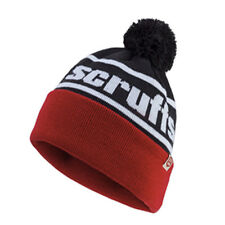 Scruffs Vintage Bobble Hat Thinsulate Red, White and Black Men's Winter Beanie