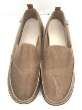 SPENCO Slip on Shoes Men's Size 13 Tan Leather Brown Orthotic