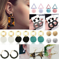 Round Large Dangle Drop Earrings Geometric Ear Studs Earrings Women Jewelry