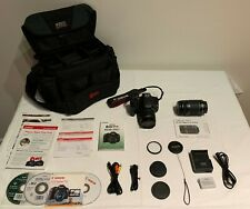Canon Rebel T3i EOS 600D Camera Bundle 18-55mm and 55-250mm Lens and Bag