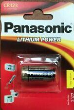 NEW PANASONIC CR123A 3V LITHIUM PHOTO BATTERY 123 CR123 DL123 CR17345 CAMERA