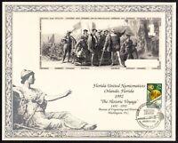 1992 FUN Orlando FL BEP $1 note souvenir card NSC64 SCCS: B-153