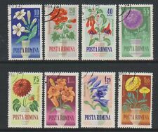 Romania - 1964 Flowers set - F/U - SG 3134/41