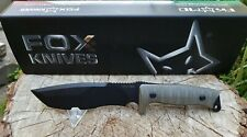 FOX Knives Trapper Green Micarta N690 Bushcraft Outdoor Prepper
