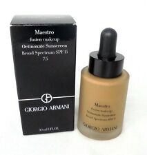 Giorgio Armani Octinoxate Sunscreen Fusion Makeup Foundation ~ 7.5 ~ 1.0 oz BNIB