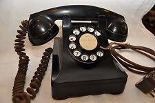 Original-State Art Deco Western Electric 302 Home Telephone Black Bakelite phone