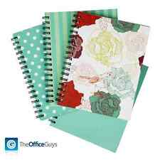 Spirax® 511 Fashion Hardcover A5 Spiral Notebooks, Mint Green Assorted Pk4