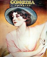 Hanger Mrs. Lina Cavalieri Cover Polychrome Comoedia Shown N°4 1909