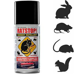 ETech RATSTOP Rat Rabbit Mice Squirrel Rodent Repeller Repellent Deterrent Spray