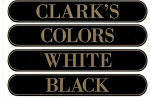 ClARKS SPOOL CABINET LABEL 4 PIECE SET / Gold on Black  10 1/4 X 1 5/8