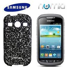 numia Handy Cover Case Samsung S7710 Galaxy Xcover 2 Schwarz-Silber Schutz Hülle