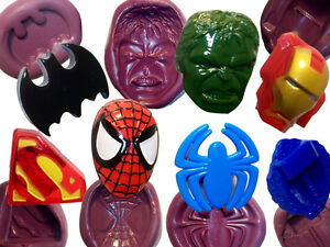 Superman Thor Spiderman Hulk Iron man silicone mould Icing cup cake topper