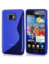 S-line Azul Gel piel caso para Samsung i9100 Galaxy S Ii