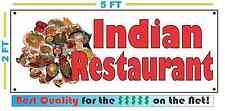 Full Color INDIAN RESTAURANT Banner Sign NEW 2x5