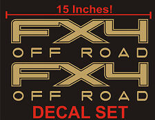4x4 Truck Bed Decals, Gold (Set) for Ford F-150 and Super Duty FX4 Off Road