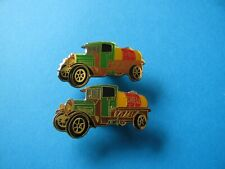 2, Vintage SHELL Oil / Petrol Company Truck / Lorry Tanker Pin Badges. VGC.