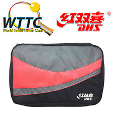 Double Happiness DHS RC109 Table Tennis Double Bat Cover - RED