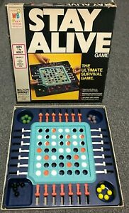 Milton Bradley STAY ALIVE 1971 Game #4105 Vintage Marble Drop COMPLETE Made USA
