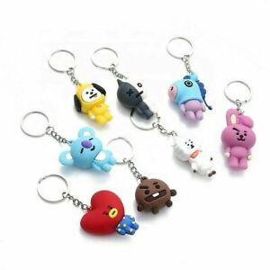UK trend BTS Cute KPOP Keychain fashion Minifigure BT21 Keyring