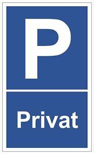 ☆ Schild - Privatparkplatz 250x150 Kunststoff (Kundenparkplatz Parken verboten)