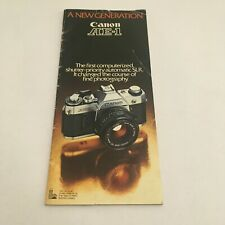 EARLY BOOKLET MANUAL FOR CANON AE-1 CAMERA- FREE SHIPPING