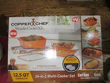 Copper Chef Wonder Cooker XL 12 QT 14 In 1 Multi-Use Cookware 4Pcs Set Non-Stick