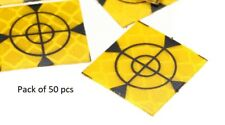 50x Retro Survey Targets (50 Pack) 20x20 mm  Adhesive For Total Stations EDM