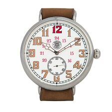 Stunning and Large Roskopf New WW1 Trench Homage Watch - 12 & 24 Hour Chapters